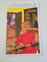Vintage Risque Comic Postcard Pawn Brokers Balls Humour 12017 Franked 1965 §A256