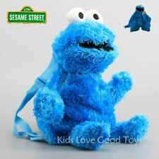 Sesame Street Cookie Monster Backpack Baby Kids Toddler Stuffed Toy Plush 3D Bag