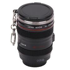 Black Stainless Steel Camera Lens Liquor Keychain Travel Shot Glass Cup Mug LG