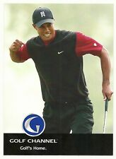 """2007 Golf Channel 5"""" x 7"""" Promotional Card - Tiger Woods & Phil Mickelson"""
