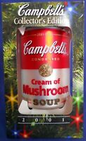 2001 Campbell's Soup Cream Of Mushroom Can Christmas Ornament