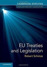 EU Treaties and Legislation, , Very Good condition, Book