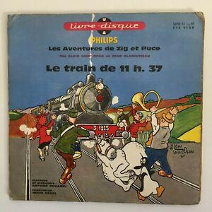 LE TRAIN DE 11h37 livre-disque ZIG ET PUCE, Alain Saint-Ogan, 1960
