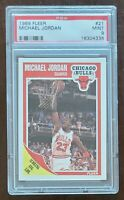 HOF Michael Jordan 1989 Fleer #21 PSA 9 MINT Chicago Bulls #1