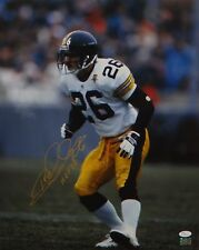 Rod Woodson Autographed *Gold 16x20 Vertical Steelers Photo- JSA Authentictaed