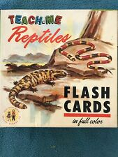 VINTAGE 1963 TEACH ME REPTILES FLASH CARDS COMPLETE Complete Set