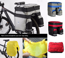 Cycling Bike Bicycle Rear Rack Seat Tail Storage Pannier Carrier Double Side 60L