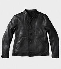 NIB Levis Vintage Clothing Einstein BLACK Menlo Cossack Leather Jacket M LVC