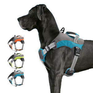 Dog Harness Reflective Adjustable No Pull Vest Mesh Padded for Pit Bull Bulldog
