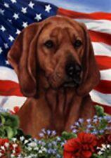 Patriotic (1) House Flag - Redbone Coonhound 16404