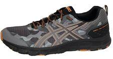 ASICS GEL-SCRAM 4 Mens Size 12 Trail Running Shoes Black Camo Orange 1011A045