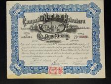 MEXICO P/11b Compañía Nacional Petrolera El Oro Negro, 10 acciones LIBERADA 1914