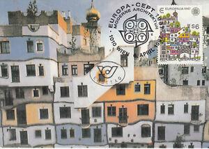 Österreich  FDC Ersttagsbrief Karte 1987 Europ.Kulturfestival EUROPALIA Mi.1876