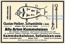 Kummeteisen Heiber Schweidnitz Swidnica Reklame 1923 Kummet Schlesien Sellet
