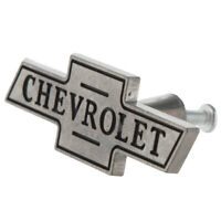 "3"" Chrome Chevy CHEVROLET Vintage Style Bowtie Garage Cabinet Drawer Pulls Knobs"