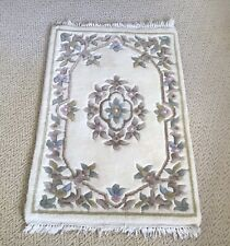 "Small Vintage Traditional Decorative Floral Shabby Chic Wool Rug - 40"" x 25"""