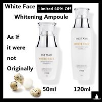 OLTTAME WHITE FACE SKIN WHITENING AMPOULE 50ml 120ml Tone-Up Brightening KBeauty