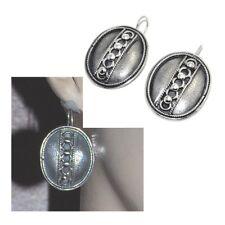 Boucles d'oreilles dormeuses originales argent massif 925 bijou earring