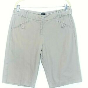 The Limited Womens Bermuda Shorts Size 12 Beige Cassidy Fit