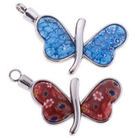 Cute Butterfly Memorial Urn Pendant Stainless Steel Ashes Keepsake Cremation