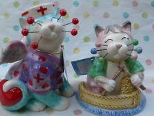 "WhimsiClay Nurse cat  ""Melissa""...+ FREE ""Grandma"" cat!!!! ($18 value)"