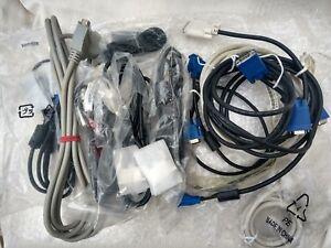 Job Lot . 2 Connectors VGA to..  +   12  Computer Cables