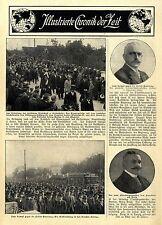 Beisetzung Frhr.Marschall v.Bieberstein Neuershausen Luftschiffer H. Grade 1912