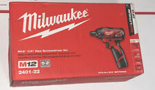 Milwaukee 2401-22 M12 Li-Ion 1/4 in. Hex Screwdriver Kit New
