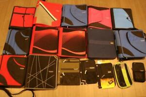 LOT OF 19 FIVE STAR MEAD ZIPPERED BINDERS PENCIL POUCHES 3 RING STORAGE POCKETS