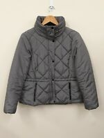 Marks & Spencer M&S Houndstooth Dogtooth Black White Puffer Puffa Coat Jacket 16