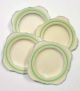 4 J&G Meakin Jacobean Ware plates, square, made in England