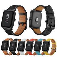 Genuine Leather Watch Band Wrist Straps Bracelet for Xiaomi Huami Amazfit Bip