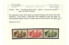 ITALIA – 1941 – Fratellanza d'armi italo – tedesca – la serie non emessa – nuova