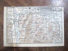 stampa antica old map MAPPA carta topografica BOLOGNA EMILIA ROMAGNA 1924