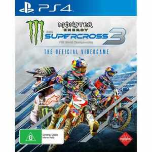 Monster Energy Supercross 3 PS4 VERY GOOD FREE POST+TRACK AU ITEM AND SELLER