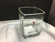 BACARDI BLACK RUM ROCK SQUARE GLASS BAR HIGHBALL ORIGINAL BOX  NICE PIECE !!