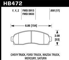 Hawk LTS Front Brake Pads For 01-11 Ford/Mercury/Mazda/Pontiac #HB472Y.650