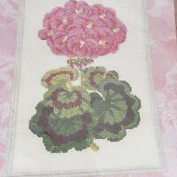 "Crosstitch Kit  Sunshine's  Geranium Flower Picture 8"" x 10"" Plaid Bucilla"
