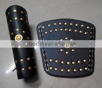 New Roman Leather Arm Guards Medieval Reenactment Bracers Vambraces Armour Pair