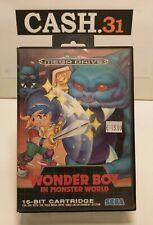 Wonder boy in monster world complete sega mega drive md rare box