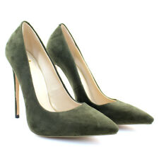 Womens Pointed Toe High Heels Pumps Party Ladies Faux Suede Elegant Shoes