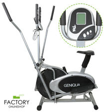 2 in 1 Elliptical Bike Cross Trainer Exercise Fitness Workout Gym Cardio Machine