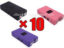 (10) Red Scorpion Mini Stun Gun 800 - 70 Million Volt 3 Colors Mix Wholesale Lot