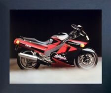 Kawasaki Ninja Zx11 Ron Kimball Motorcycle Wall Decor Espresso Framed Picture