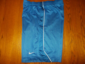 NIKE BLUE ATHLETIC BASKETBALL SHORTS MENS XL EXCELLENT CONDITION