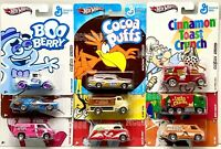 HOT WHEELS 2011 POP CULTURE GENERAL MILLS COMPLETE SET OF 9 CAR FORD BUICK DODGE