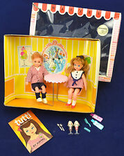Vintage Barbie 1966 Tutti & Todd Sundae Treat Play Set  COMPLETE with BOX!