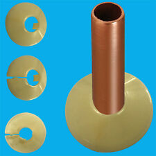 10x Brown Plastic Radiator Pipe Collars For 15mm Pipes Easy Fit Flooring Covers