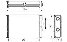NRF Radiador de calefacción FIAT PUNTO DOBLO IDEA LANCIA Y YPSILON MUSA 53233