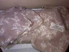 Lin De Luxe Vintage Washed 100% Linen Blush Beige Floral Queen Duvet 2 Shams Set